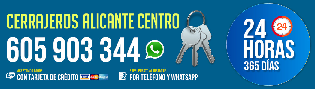 Cerrajeros Alicante Centro 7